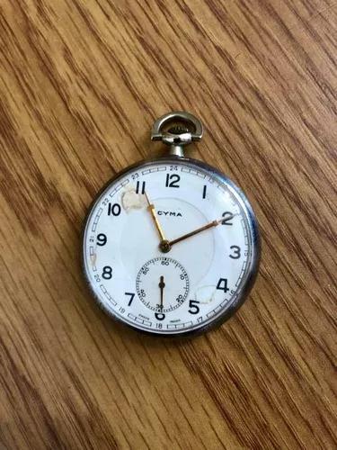 Relógio de bolso antigo vintage cyma suiço funcionando