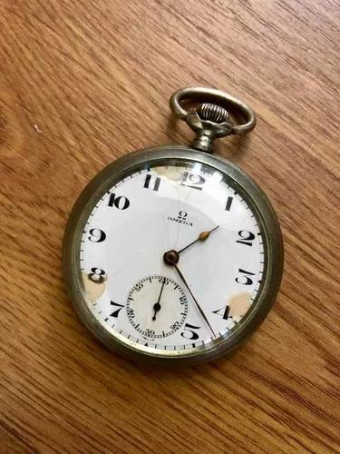Relógio de bolso antigo vintage omega suíço ano 1923