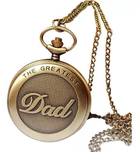 Relógio de bolso dad papai vovô quartzo