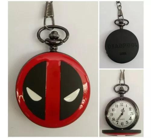 Relógio de bolso deadpool