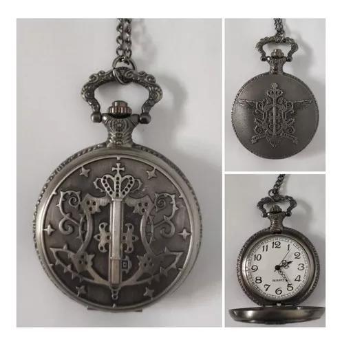 Relógio de bolso kuroshitsuji (preto)