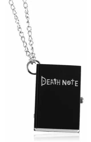 Relógio de bolso livro death note preto de pingente cordão