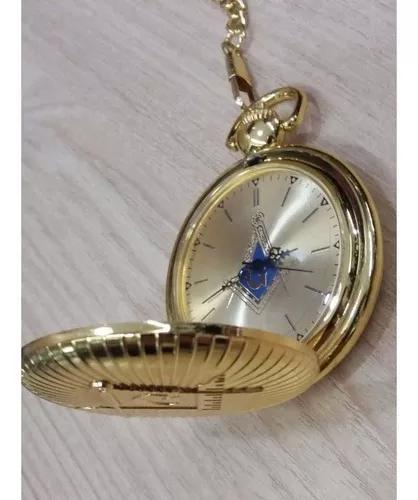 Relógio de bolso maçonaria dourado ouro