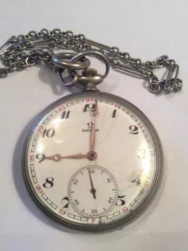 Relógio de bolso masculino marca ômega com corrente