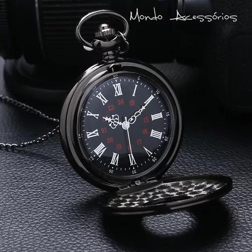 Relógio De Bolso Masculino Steampunk + Corrente Frete