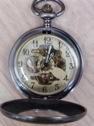 Relógio de bolso mecânico corda manual estilo antigo