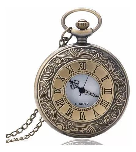 Relógio de bolso números romanos luxo top retro vintage