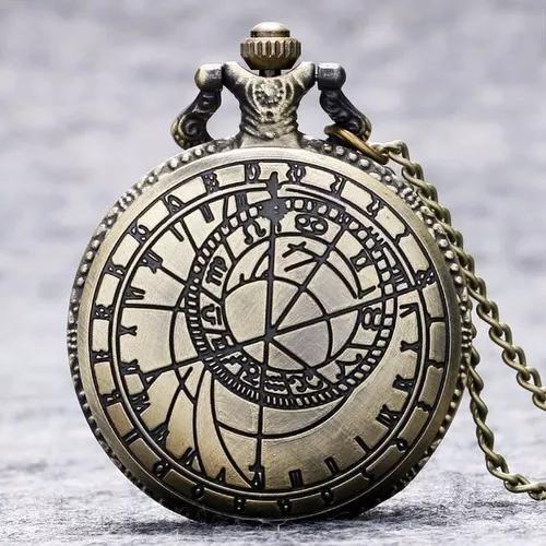 Relógio de bolso quartzo vintage t