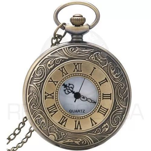 Relógio de bolso roman antigo original clássico quartzo