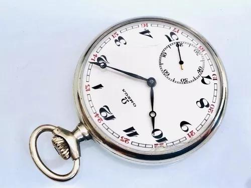 Relógio de bolso suíço omega mecânico cal 40.6 década