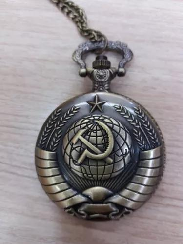 Relógio de bolso união soviética comunismo
