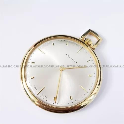 Relógio de bolso vintage dumai swiss made