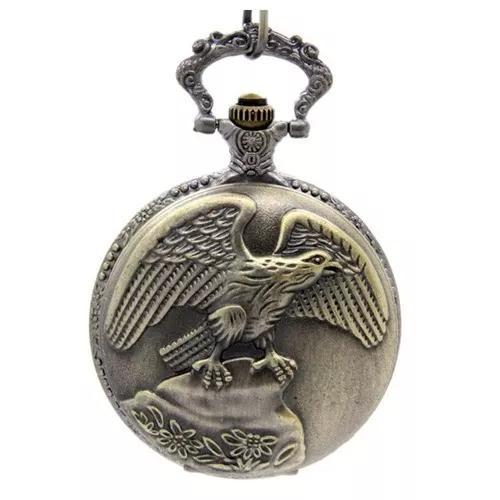 Relógio de bolso águia americana símbolo estados unidos