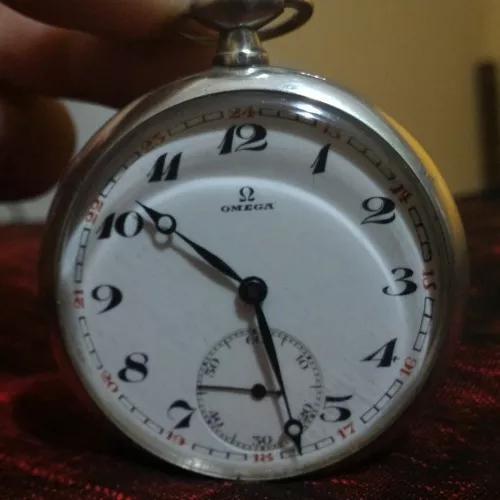 Relógio de bolso ômega bienne geneve - ano 1929