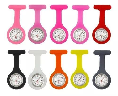 Relógio de lapela silicone para enfermag
