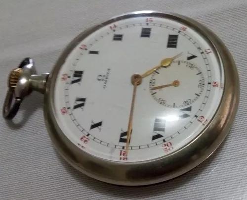 Relógio omega de bolso fabricado há quase 100 anos