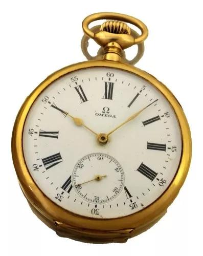 Relogio bolso omega grand prix paris 1900 ouro 18k j22068