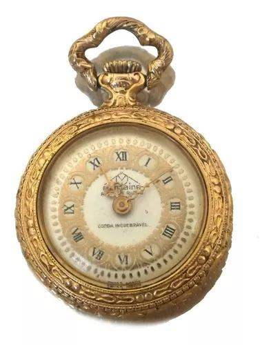 Relogio de bolso mondaine ancre 17 rubis ouro 18k movimento