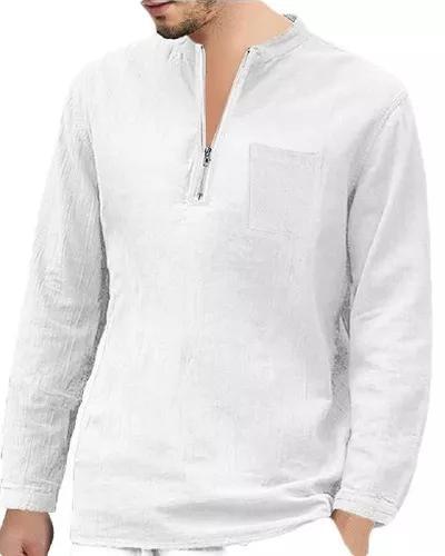 Slim fit trimestre zip pulôver camisa de manga comprida top