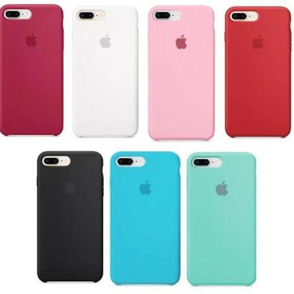 Capa silicone apple iphone xs 6s 7 8 plus e 7 8 comum+cores