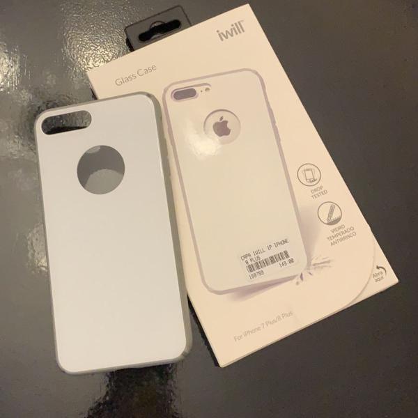 Case capa antichoque glass case iphone 7/8 plus iwill vidro