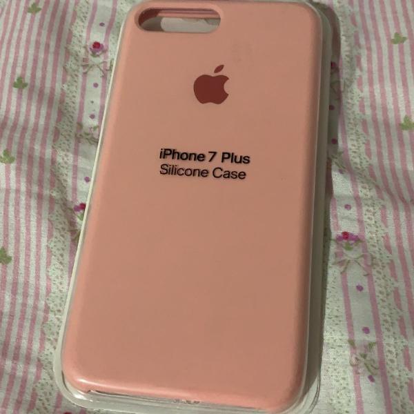 Case silicone apple rosa iphone 7/8 plus