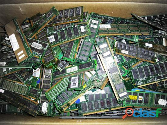 Computer scrap ram , gold finger , motherboard available for sell