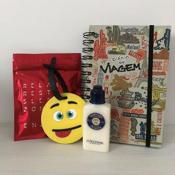 Diário/kit de viagem