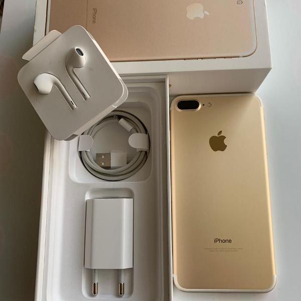 Iphone 7 plus 32gb dourado usado