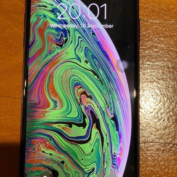 Iphone xs max cinza-espacial 64gb