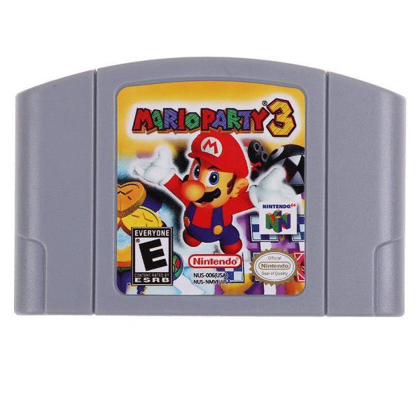 Mario party 3 americano estratégia nintendo 64 n64 novo