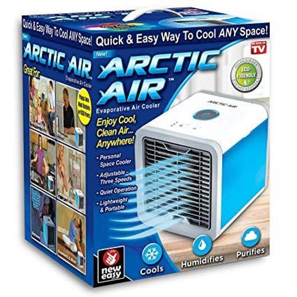 Mini ar condicionado climatizador portátil com lâmpada led
