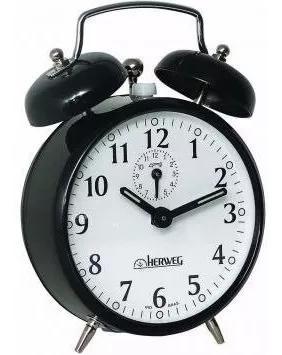 2208 - relógio despertador antigo cores - a cordas herweg