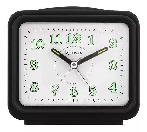 2588 relógio despertador preto dois alarme super alto