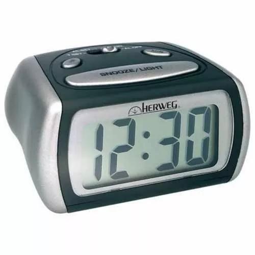 2916 relógio despertador digital luz noturna led azul