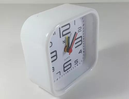 Despertador cabeceira cama relogio analógico moderno casa