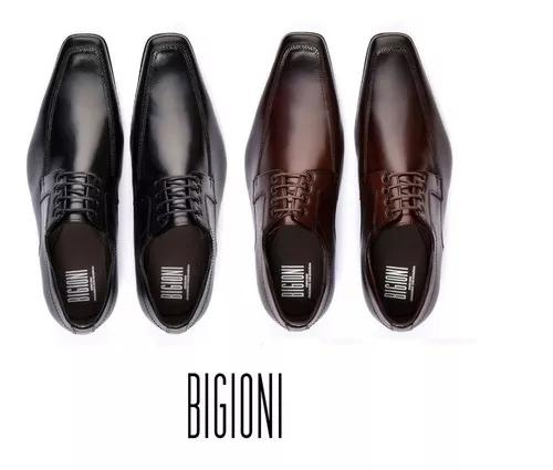 Kit 2 pares sapato social estilo italiano bigioni couro crom