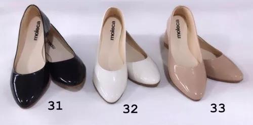 Kit 6 pares sapatilhas moleca bico fino