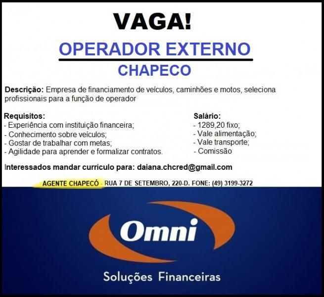 Operador externo - omni financeira