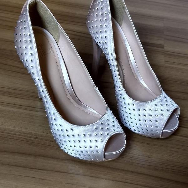Peep toe my shoes com brilho