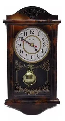 Relógio com pêndulo retrô modelo antigo de parede