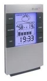 Relógio de mesa digital despertador e previsão do t