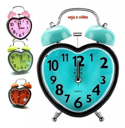 Relógio despertador analógico maquina silenciosa t