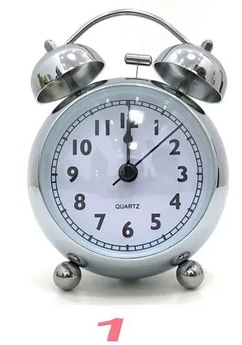 Relógio despertador analógico mod antigo 2 sino mecânico