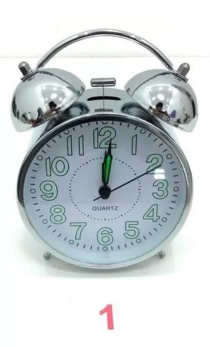 Relógio despertador analógico mod antigo 2 sinos mecânico
