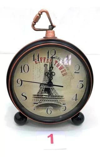 Relógio despertador analógico mod antigo c/gancho