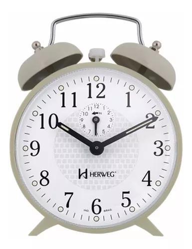 Relógio despertador antigo mecânico a cordas varias cores