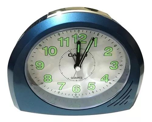 Relógio despertador casio tq-358 analógio original nf