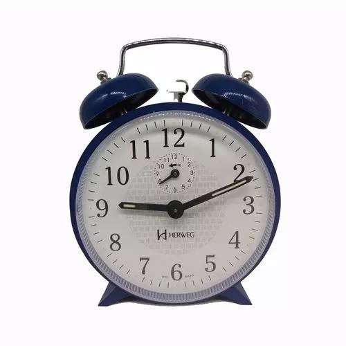 Relógio despertador c/som alto corda campainha mecânico
