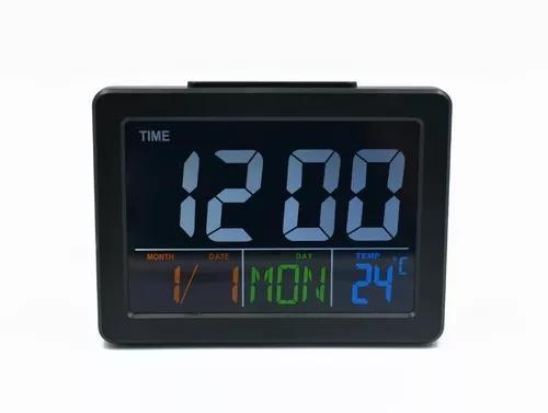 Relógio despertador digital de mesa cabeceira termômetro